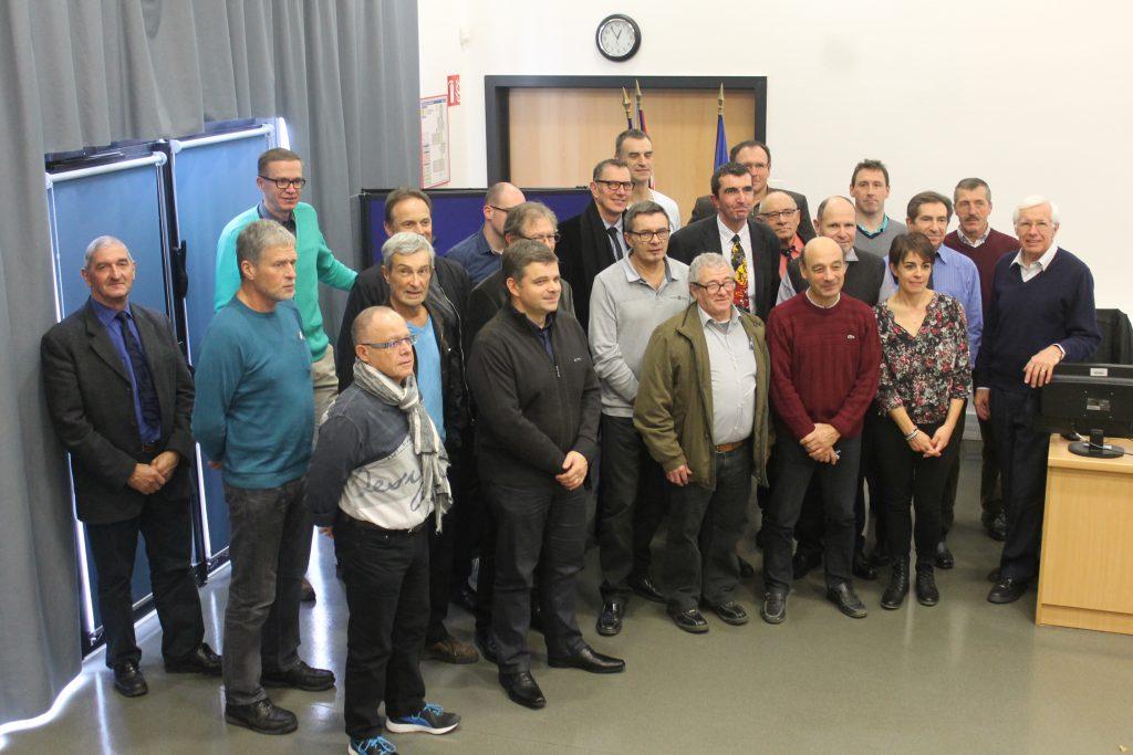 Photo de groupe du comité régional de cyclotourisme du Grand Est